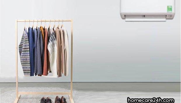 Hướng dẫn cách phơi quần áo tiện lợi bằng điều hòa vừa sạch vừa nhanh khô