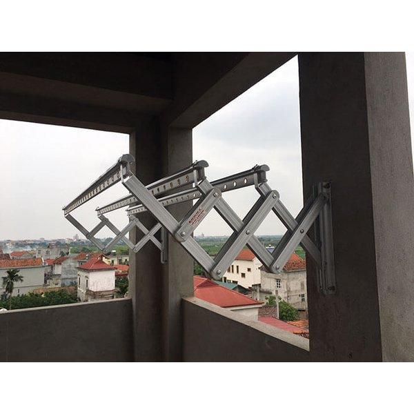 Giàn phơi gắn tường xếp ngang Hàn Quốc