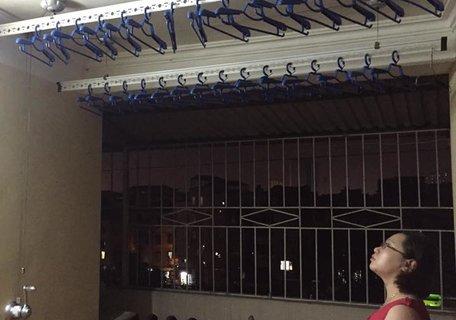 Lắp đặt giàn phơi tay quay thông minh tại Cầu Giấy